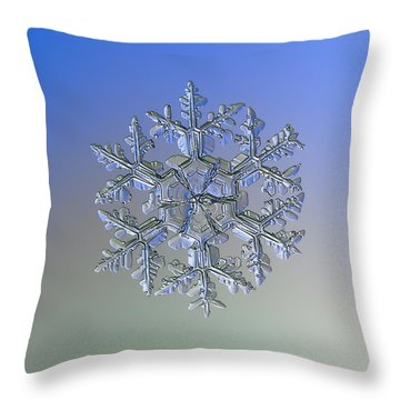 Snowflake Photo - Gardener's Dream Alternate Throw Pillow