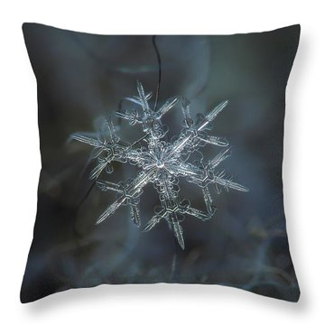 Throw Pillow featuring the photograph Snowflake Photo - Rigel by Alexey Kljatov