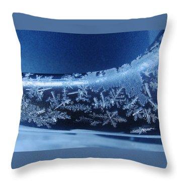 Snowflakes Throw Pillow by Lori Kingston