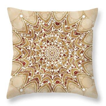 Snowflakes Mandala Design Throw Pillow