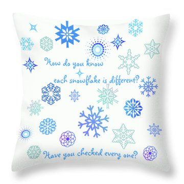Snowflakes Throw Pillow by Methune Hively