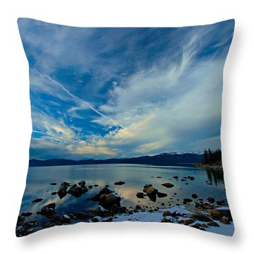 Snowgasm Throw Pillow by Sean Sarsfield