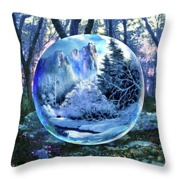 Snowglobular Throw Pillow