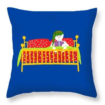 Snowman Bedtime Throw Pillow