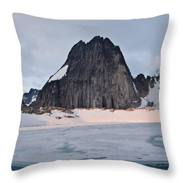 Snowpatch Spire Throw Pillow
