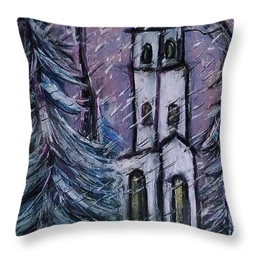 Snowscape Throw Pillow