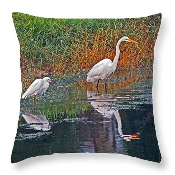 Snowy And Great Throw Pillow