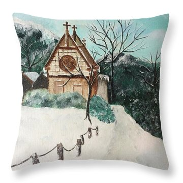 Snowy Daze Throw Pillow