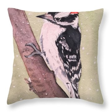 Snowy Downy Throw Pillow