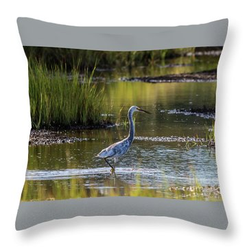 Snowy Egret X Tricolor Heron Throw Pillow