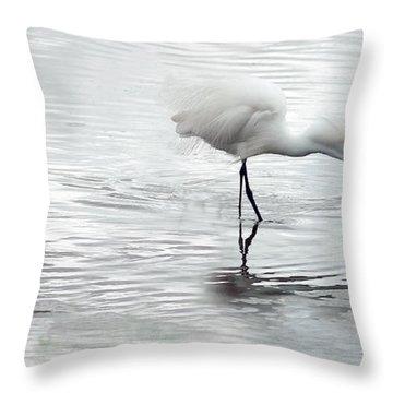 Snowy Egrets Throw Pillow