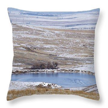 Snowy Hills 1 Throw Pillow