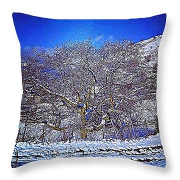 Snowy Throw Pillow