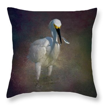 Snowy Lunch Throw Pillow