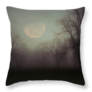 Moonlit Dreams Throw Pillow by Inspired Arts