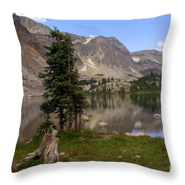 Snowy Mountain Loop 5 Throw Pillow by Marty Koch