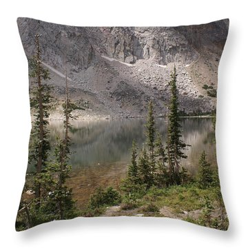 Snowy Mountain Loop 6 Throw Pillow by Marty Koch