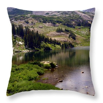 Snowy Moutain Loop 7 Throw Pillow by Marty Koch