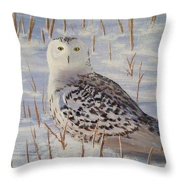 Snowy Owl Throw Pillow
