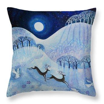 Snowy Peace Throw Pillow