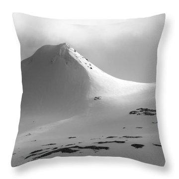 Snowy Peak Over Grundarfjordur Throw Pillow