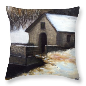 Fallen Snow Throw Pillow by Dustin Miller