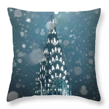 Snowy Spires Throw Pillow by Az Jackson