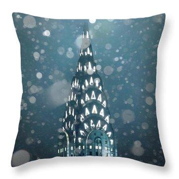 Snowy Spires Throw Pillow