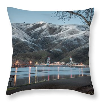 Snowy Star Throw Pillow by Brad Stinson