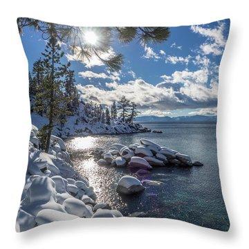 Snowy Tahoe Throw Pillow