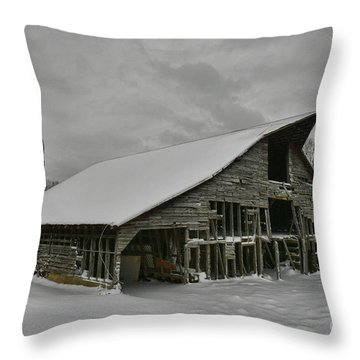 Snowy Thunder Throw Pillow