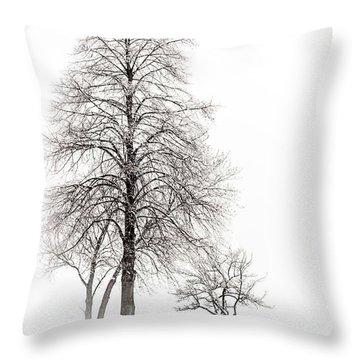 Snowy Trees Throw Pillow