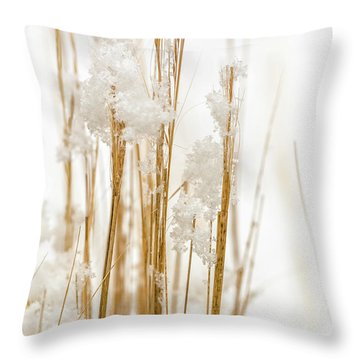 Snowy Weed - Vertical Throw Pillow