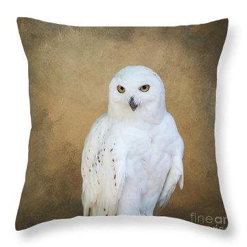 Snowy White Throw Pillow