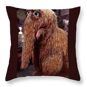 Snuffleupagus Throw Pillow