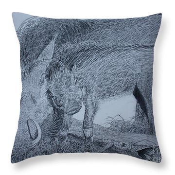 Snuggle Throw Pillow by David Joyner