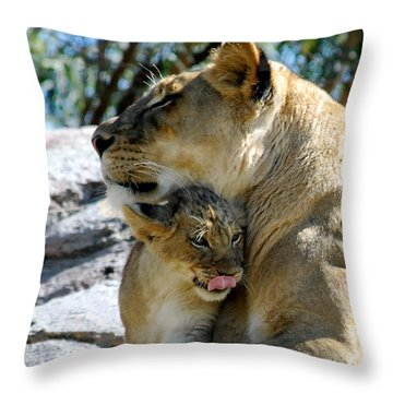 Throw Pillow featuring the photograph Snuggles by Howard Bagley