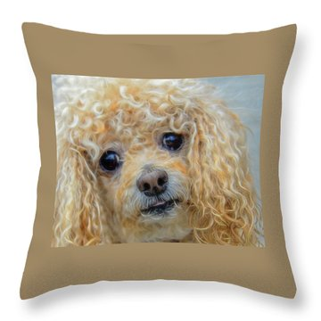 Snuggles Throw Pillow by Steven Richardson