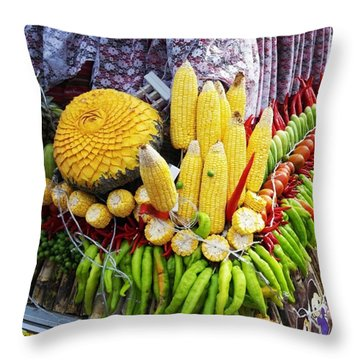 Throw Pillow featuring the photograph So, Elephants Eat Red Hot Chile by Mr Photojimsf