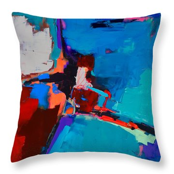 So Far - Art By Elise Palmigiani Throw Pillow by Elise Palmigiani