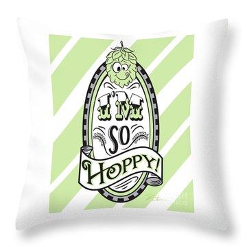 So Hoppy Throw Pillow