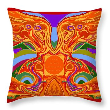 So Hot It Will Burn Your Face Off Art And Text Throw Pillow