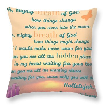 So Jesus Said To Them Again, peace Be Throw Pillow