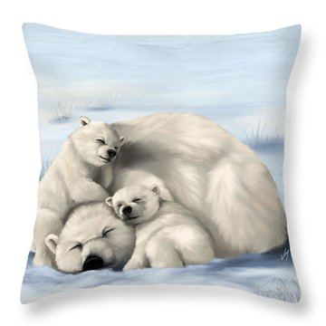 Throw Pillow featuring the painting So Much Love by Veronica Minozzi