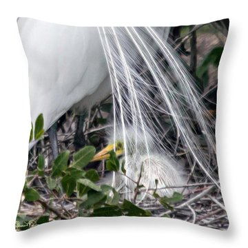 So Safe With Mom 2 Throw Pillow