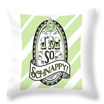 So Schnappy Throw Pillow