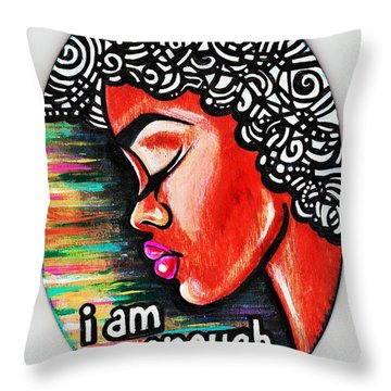 So She Repeated Throw Pillow