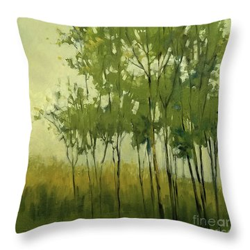 So Tall Tree Forest Landscape Painting Throw Pillow