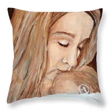 So This Is Love Throw Pillow by MaryAnne Ardito