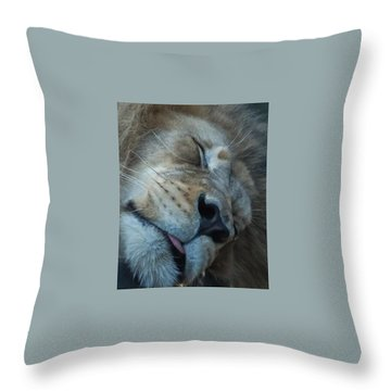 So Tired Throw Pillow